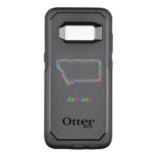 Capa OtterBox Commuter Para Samsung Galaxy S8 Mapa de Montana do arco-íris
