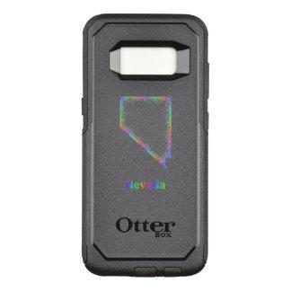 Capa OtterBox Commuter Para Samsung Galaxy S8 Mapa de Nevada do arco-íris