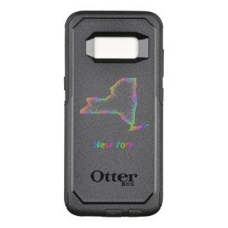 Capa OtterBox Commuter Para Samsung Galaxy S8 Mapa de New York do arco-íris