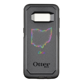 Capa OtterBox Commuter Para Samsung Galaxy S8 Mapa de Ohio do arco-íris