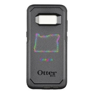 Capa OtterBox Commuter Para Samsung Galaxy S8 Mapa de Oregon do arco-íris