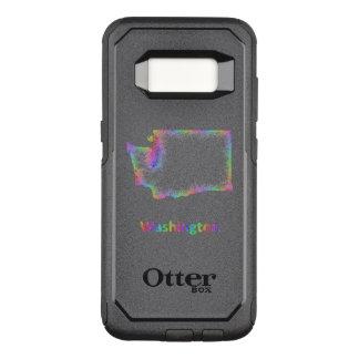 Capa OtterBox Commuter Para Samsung Galaxy S8 Mapa de Washington do arco-íris