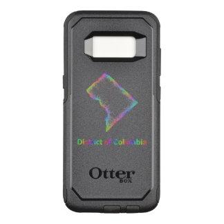 Capa OtterBox Commuter Para Samsung Galaxy S8 Mapa do distrito de Columbia do arco-íris