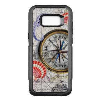 Capa OtterBox Commuter Para Samsung Galaxy S8+ mapa do vintage do compasso