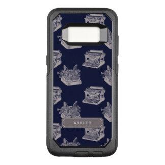 Capa OtterBox Commuter Para Samsung Galaxy S8 Máquina de escrever azul conhecida personalizada