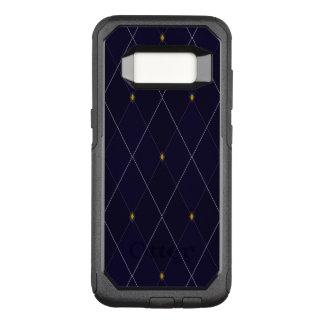 Capa OtterBox Commuter Para Samsung Galaxy S8 Marinho brilhante Argyle do diamante