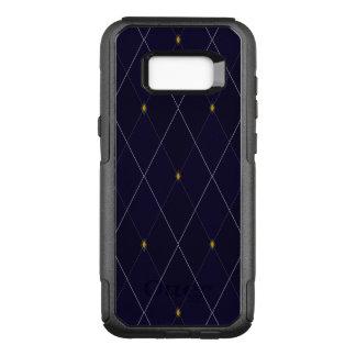 Capa OtterBox Commuter Para Samsung Galaxy S8+ Marinho brilhante Argyle do diamante
