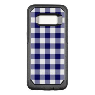 Capa OtterBox Commuter Para Samsung Galaxy S8 Marinho robusto e teste padrão branco do guingão