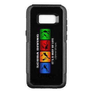Capa OtterBox Commuter Para Samsung Galaxy S8+ Mergulho autónomo legal é um modo de vida