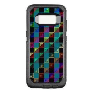 Capa OtterBox Commuter Para Samsung Galaxy S8 Metade-e-metade colorida dos quadrados