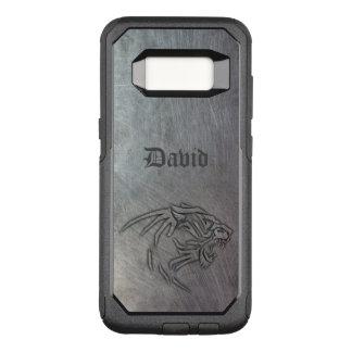 Capa OtterBox Commuter Para Samsung Galaxy S8 Metal do animal selvagem tribal