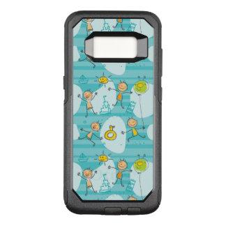 Capa OtterBox Commuter Para Samsung Galaxy S8 Miúdos bonitos que jogam no teste padrão da praia