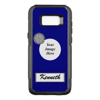 Capa OtterBox Commuter Para Samsung Galaxy S8+ Modelo cinzento da fita da flor por Kenneth
