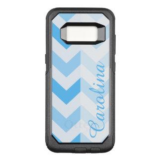 Capa OtterBox Commuter Para Samsung Galaxy S8 Modelo conhecido azul de Chevron