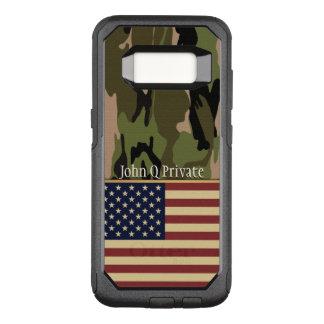 Capa OtterBox Commuter Para Samsung Galaxy S8 Modelo conhecido de Camo da bandeira dos EUA
