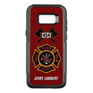 Capa OtterBox Commuter Para Samsung Galaxy S8+ Modelo do nome do emblema do sapador-bombeiro do