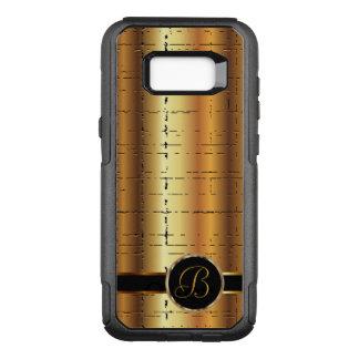 Capa OtterBox Commuter Para Samsung Galaxy S8+ Monograma metálico do design | do ouro do falso
