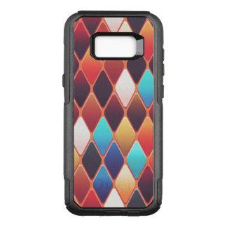 Capa OtterBox Commuter Para Samsung Galaxy S8+ Mosaico alaranjado do diamante