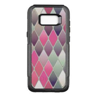 Capa OtterBox Commuter Para Samsung Galaxy S8+ Mosaico cor-de-rosa do diamante
