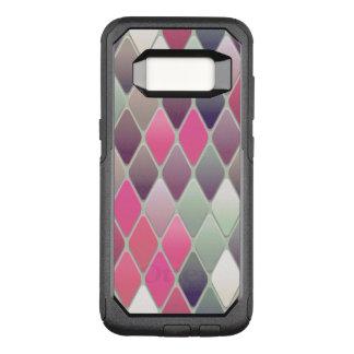 Capa OtterBox Commuter Para Samsung Galaxy S8 Mosaico cor-de-rosa do diamante
