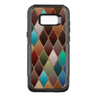 Capa OtterBox Commuter Para Samsung Galaxy S8+ Mosaico do diamante da cerceta