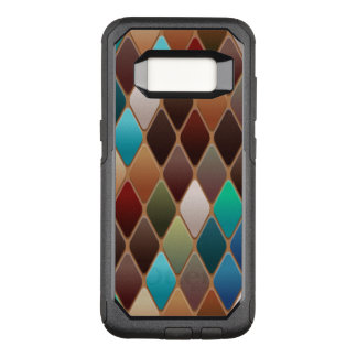 Capa OtterBox Commuter Para Samsung Galaxy S8 Mosaico do diamante da cerceta