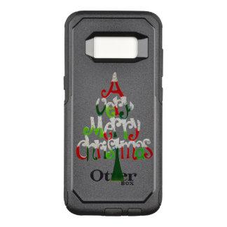 Capa OtterBox Commuter Para Samsung Galaxy S8 Muito árvore do Feliz Natal
