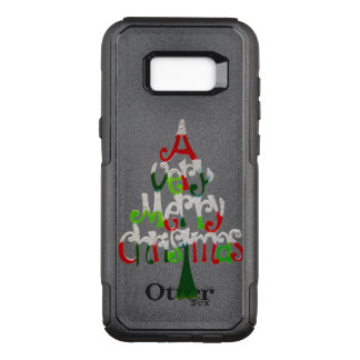Capa OtterBox Commuter Para Samsung Galaxy S8+ Muito árvore do Feliz Natal