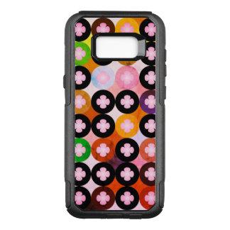 Capa OtterBox Commuter Para Samsung Galaxy S8+ Multi círculos coloridos legal & trevos
