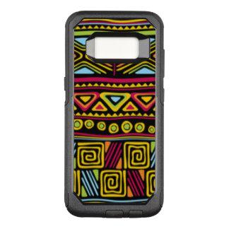 Capa OtterBox Commuter Para Samsung Galaxy S8 Multi design africano do teste padrão da cor