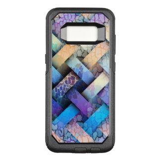Capa OtterBox Commuter Para Samsung Galaxy S8 Multi design colorido do Weave de cesta
