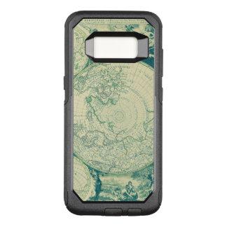 Capa OtterBox Commuter Para Samsung Galaxy S8 Mundo verde preto envelhecido do mapa queimado