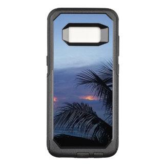 Capa OtterBox Commuter Para Samsung Galaxy S8 Nascer do sol azul obscuro da palmeira