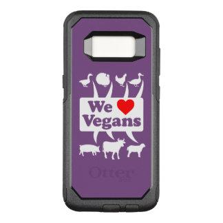 Capa OtterBox Commuter Para Samsung Galaxy S8 Nós amamos os Vegans II (brancos)