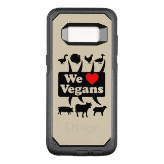 Capa OtterBox Commuter Para Samsung Galaxy S8 Nós amamos Vegans II (o preto)