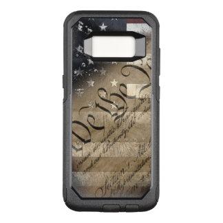 Capa OtterBox Commuter Para Samsung Galaxy S8 Nós as pessoas de bandeira americana do vintage