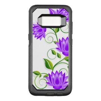 Capa OtterBox Commuter Para Samsung Galaxy S8 O abstrato elegante do roxo floresce a ilustração