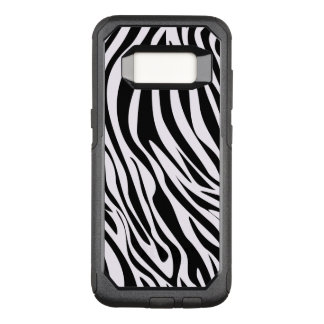 Capa OtterBox Commuter Para Samsung Galaxy S8 O animal da zebra listra o teste padrão