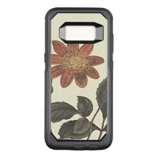 Capa OtterBox Commuter Para Samsung Galaxy S8 O escarlate floresceu a ilustração botânica da