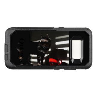 Capa OtterBox Commuter Para Samsung Galaxy S8 O gato e a fotografia vermelha da arte do copo