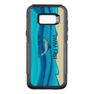 Capa OtterBox Commuter Para Samsung Galaxy S8+ O golfinho SUPERIOR da natação jejua