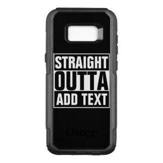Capa OtterBox Commuter Para Samsung Galaxy S8+ O HETERO OUTTA - adicione seu texto aqui/criar-lo