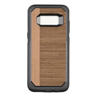 Capa OtterBox Commuter Para Samsung Galaxy S8 O olhar da grão de madeira da beira de bambu na