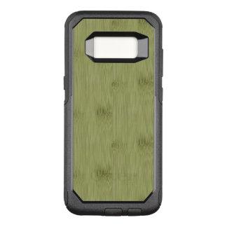 Capa OtterBox Commuter Para Samsung Galaxy S8 O olhar do bambu na grão verde-oliva da madeira do