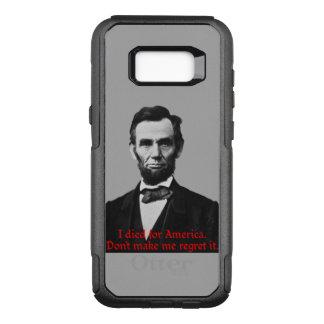 Capa OtterBox Commuter Para Samsung Galaxy S8+ O orgulho americano de Abraham Lincoln