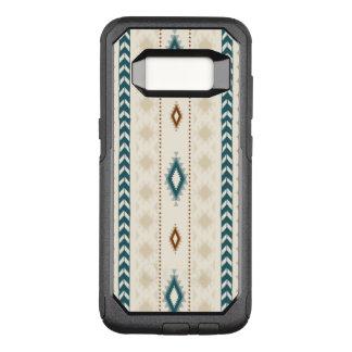Capa OtterBox Commuter Para Samsung Galaxy S8 O ponto morto tribal asteca bronzeia a cerceta