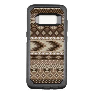 Capa OtterBox Commuter Para Samsung Galaxy S8 O ponto morto tribal asteca bronzeia o Taupe bege