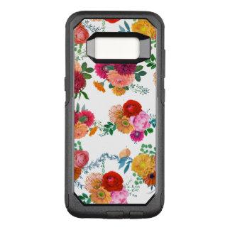 Capa OtterBox Commuter Para Samsung Galaxy S8 O primavera colorido floresce a ilustração