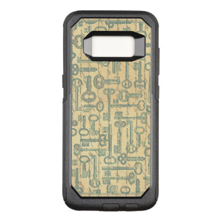 Capa OtterBox Commuter Para Samsung Galaxy S8 O Victorian verde idoso das chaves envelhecido