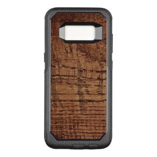 Capa OtterBox Commuter Para Samsung Galaxy S8 Olhar áspero da grão da madeira de carvalho da